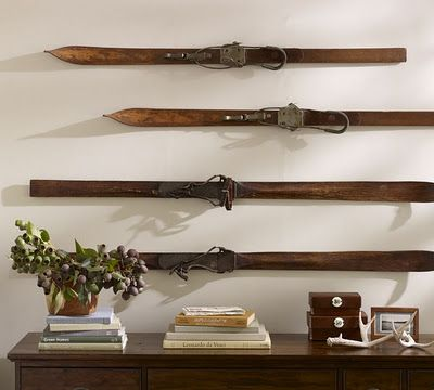 The Wicker House Decorating With Vintage Skis Ski Lodge Decor