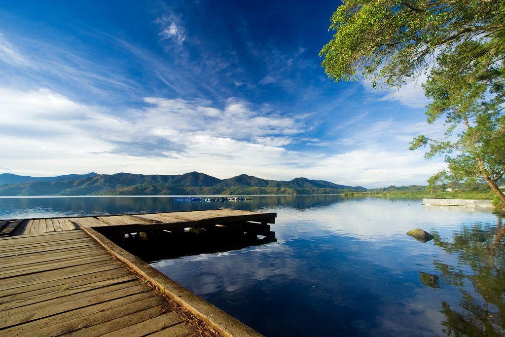 Morning View Of Danau Atas Danau Bawah Pemandangan Indonesia Danau Toba