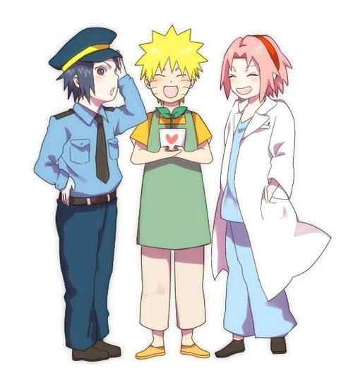 Uchiha Sasuke, Uzumaki Naruto and Haruno Sakura.