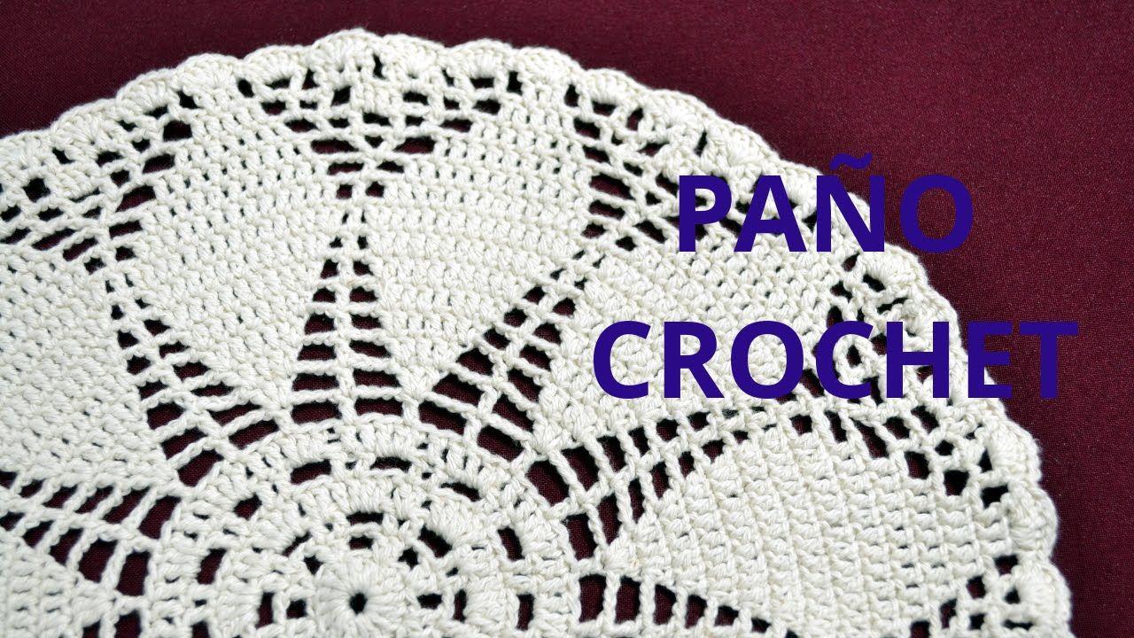 Paño Redondo en tejido crochet tutorial paso a paso. | todo crochet ...