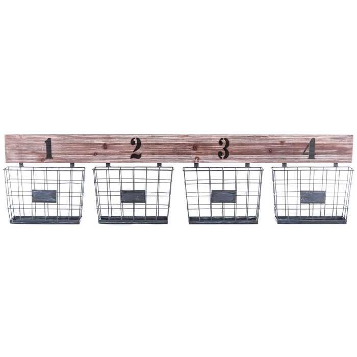 I must buy Whitewash Wooden Shelf with 4Iron Baskets Things I