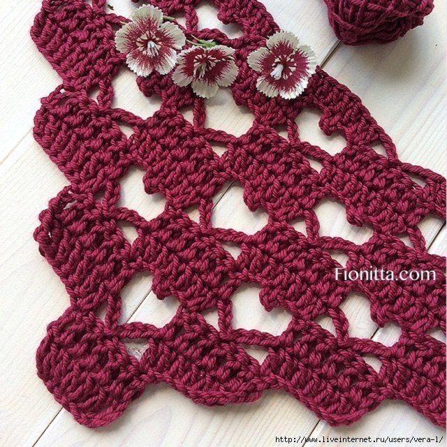 Punto de Crochet – Corazón – Paso a paso puntos de ganchillo ...