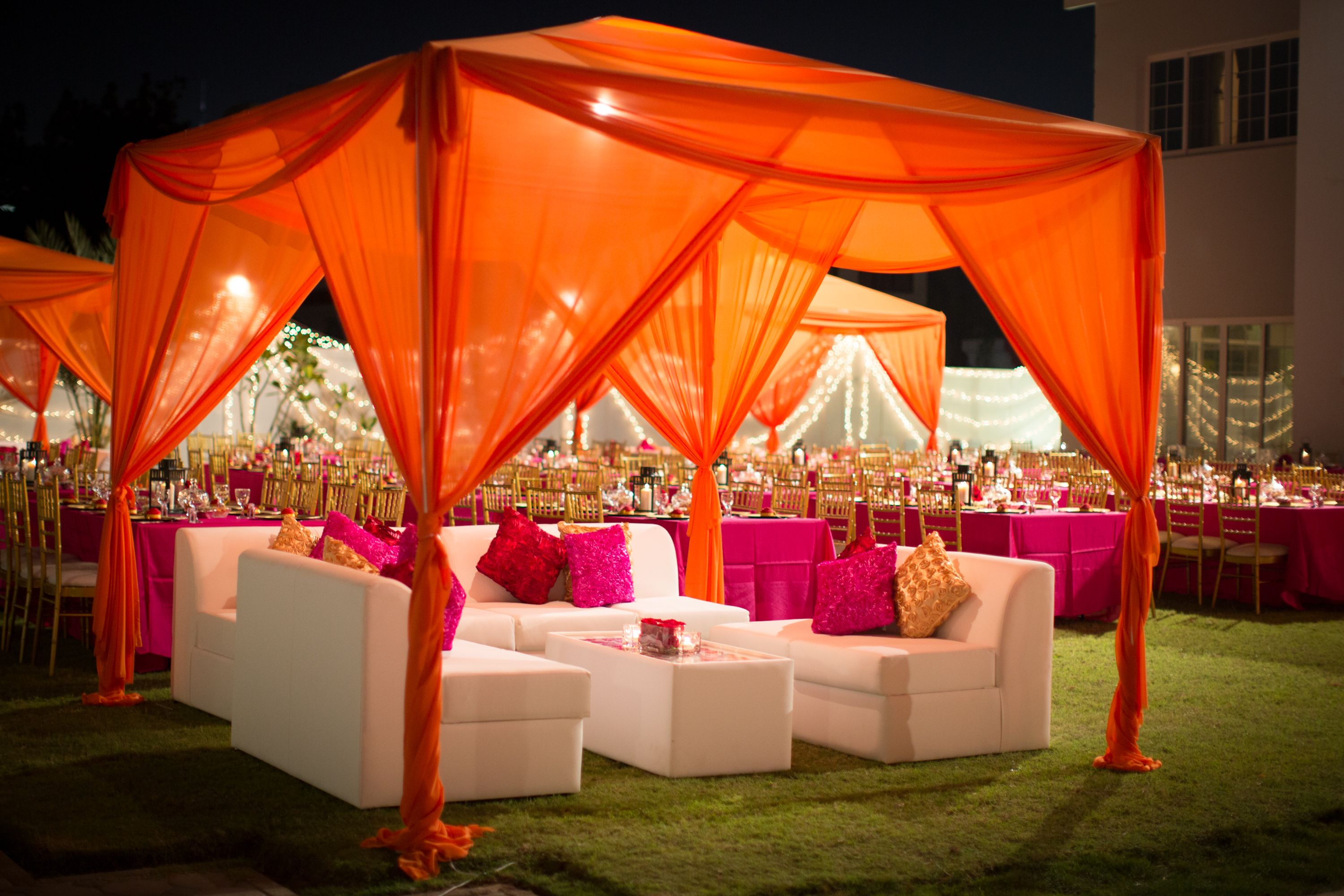 decoration - Orange Canopy Decorating