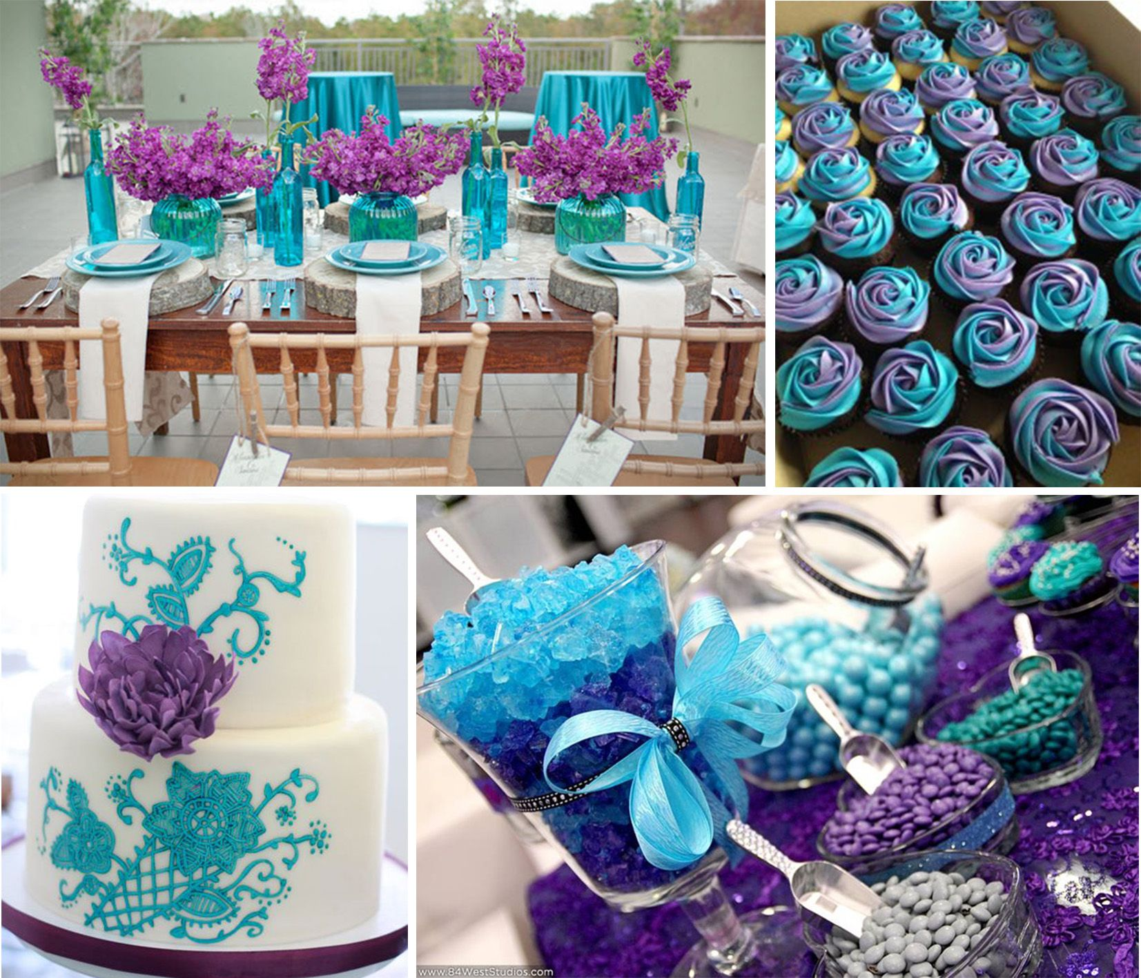 Best ideas for purple and teal wedding Purple wedding colors