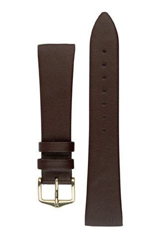 Hirsch DIAMOND CALF Open Ended Calf Leather Watch Strap in BROWN | HirschStraps