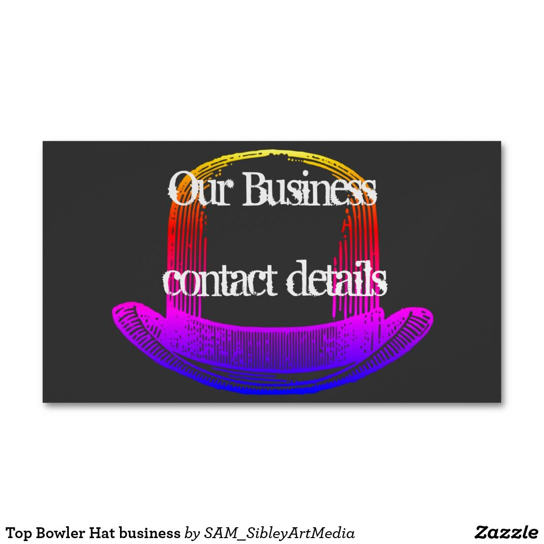 Top Bowler Hat Business Magnetic Business Card Zazzle Com Au Magnetic Business Cards Bowler Hat Bowler