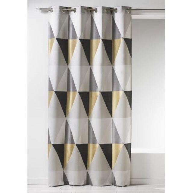 rideau en jacquard graphique home maison prix avis notation livraison graphique et design. Black Bedroom Furniture Sets. Home Design Ideas