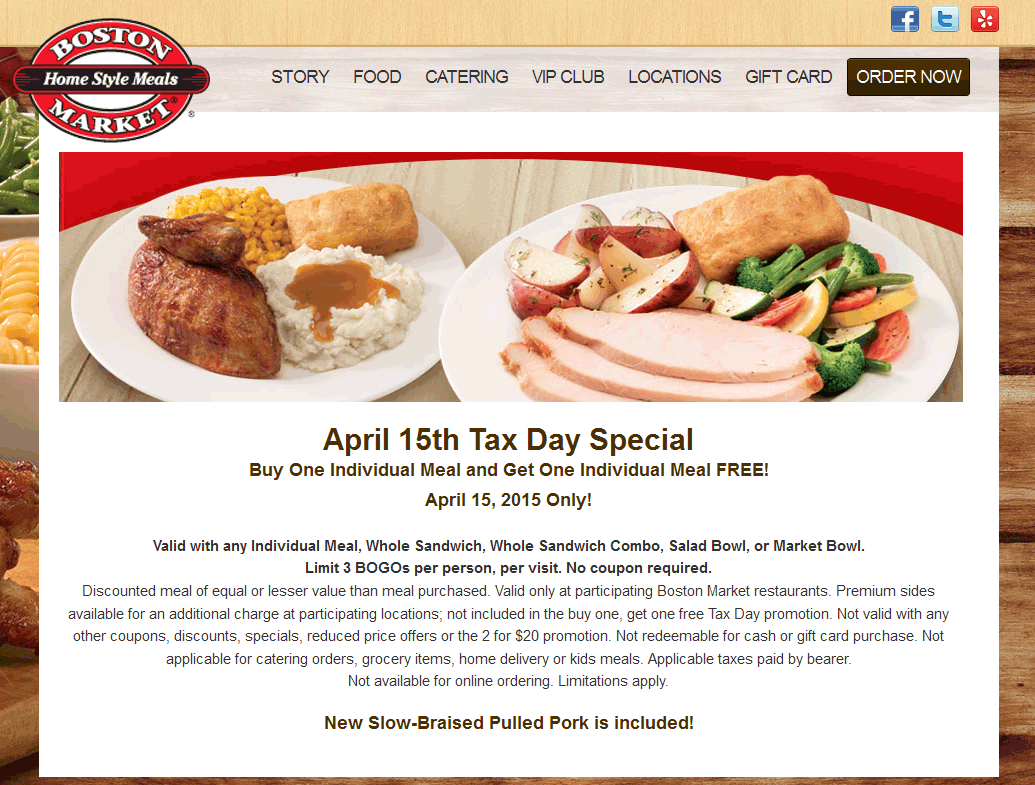 Boston Market Deal! Free printable coupons, Boston