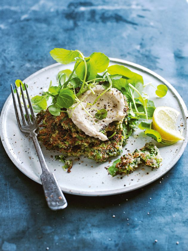 kale, pea and ricotta fritters from donna hay Life in Balance cookbook
