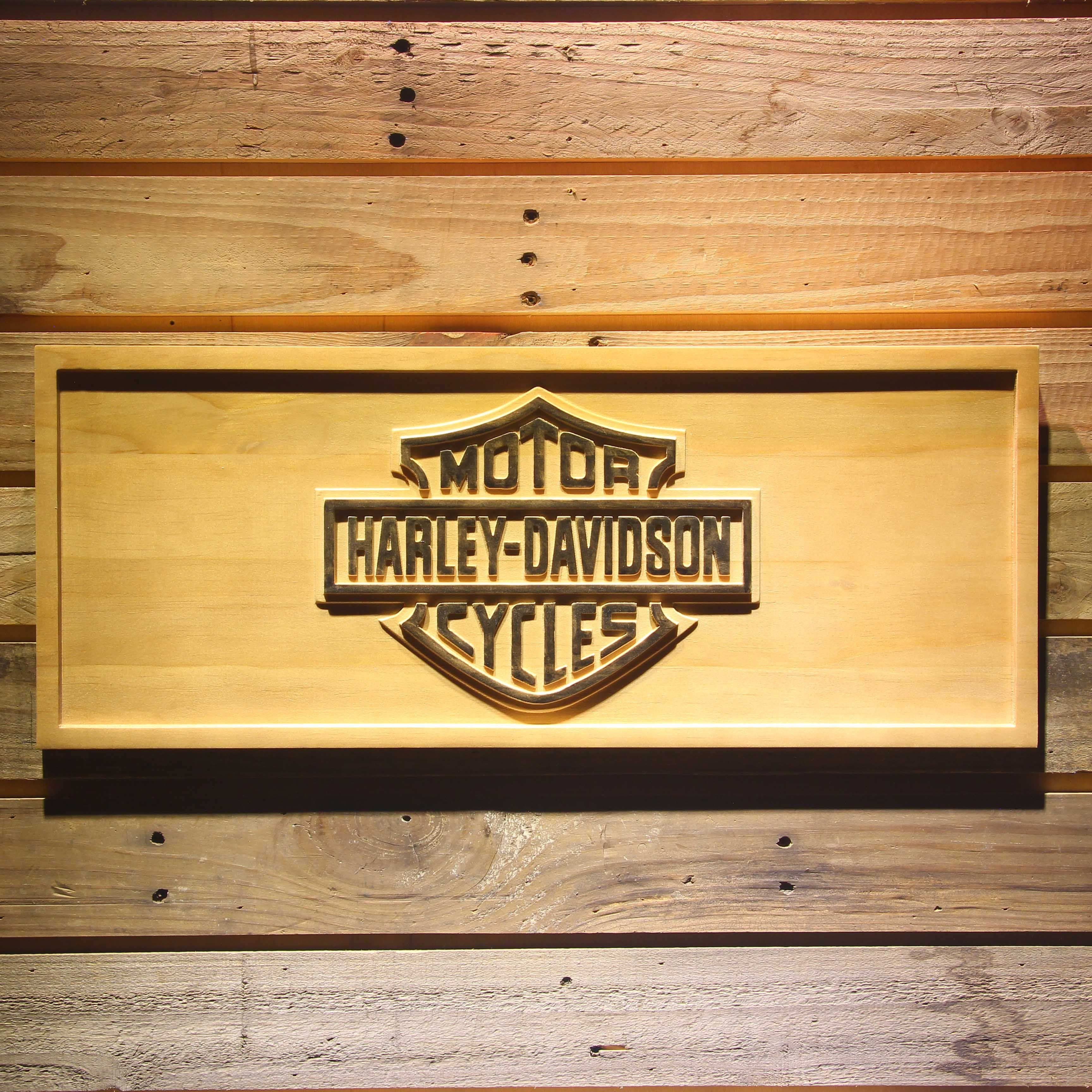 Harley Davidson 3D Wooden Sign