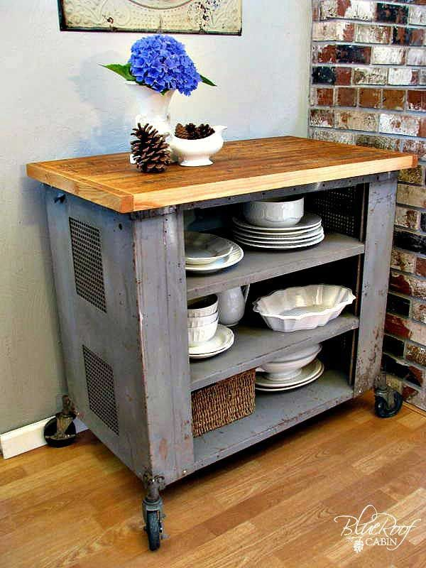 32 simple rustic homemade kitchen islands homemade kitchen island rustic kitchen island on outdoor kitchen on wheels id=32837