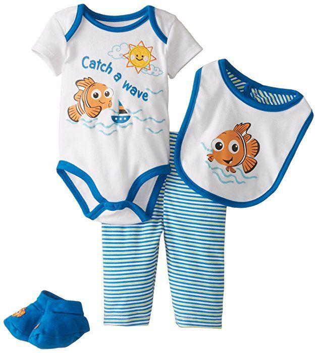 Disney Baby Baby-Boys Newborn Nemo Boys 4 Piece Set, Multi, 6-9 Months