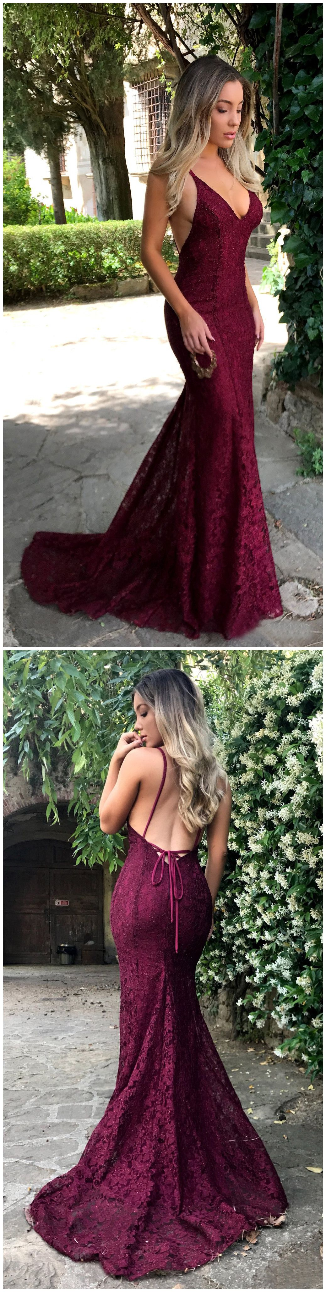 Chic burgundy prom dresses long mermaid modest cheap long prom dress