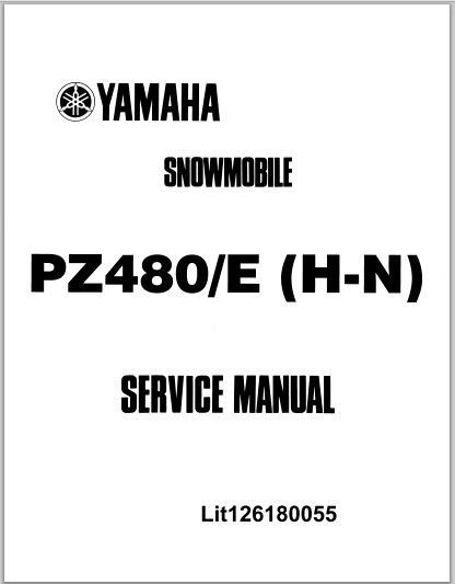 1984-1989 Yamaha PZ480/E (H-N) Phazer Snowmoblile Workshop