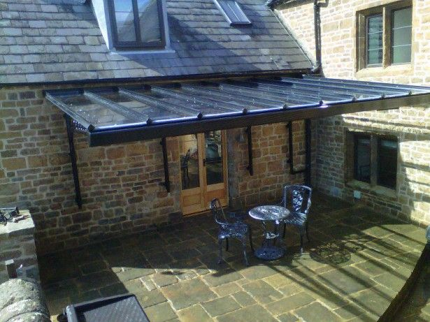 glass awnings and canopies | Awe-Inspiring Build Patio Canopy First Rate Black_glass_veranda_over . & glass awnings and canopies | Awe-Inspiring Build Patio Canopy ...