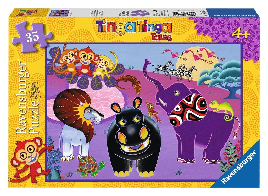 Tinga Tinga Tales - Funny Monkey - 35 Piece Jigsaw Puzzle Products