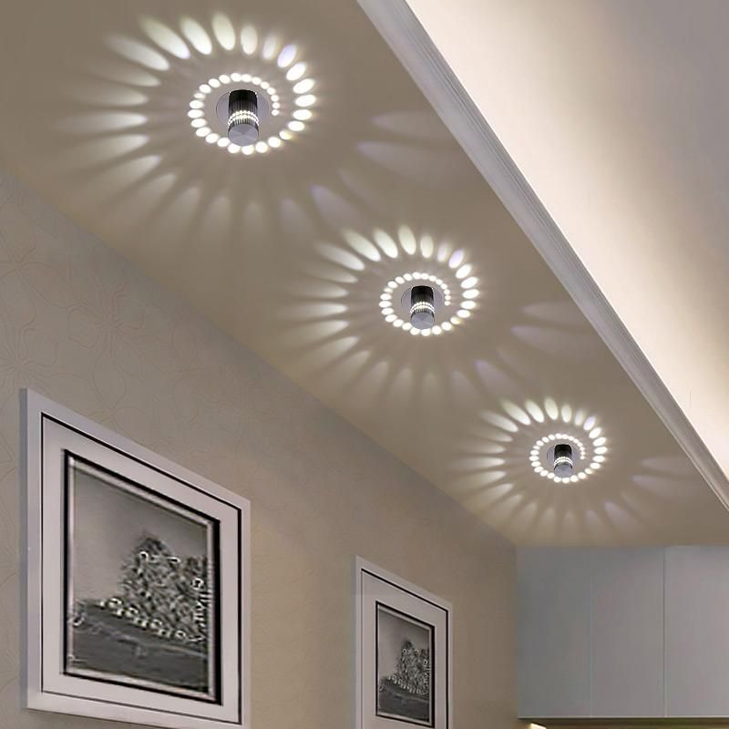 Modern Led Ceiling Light 3w Rgb Wall Sconce Front Balcony Lamp