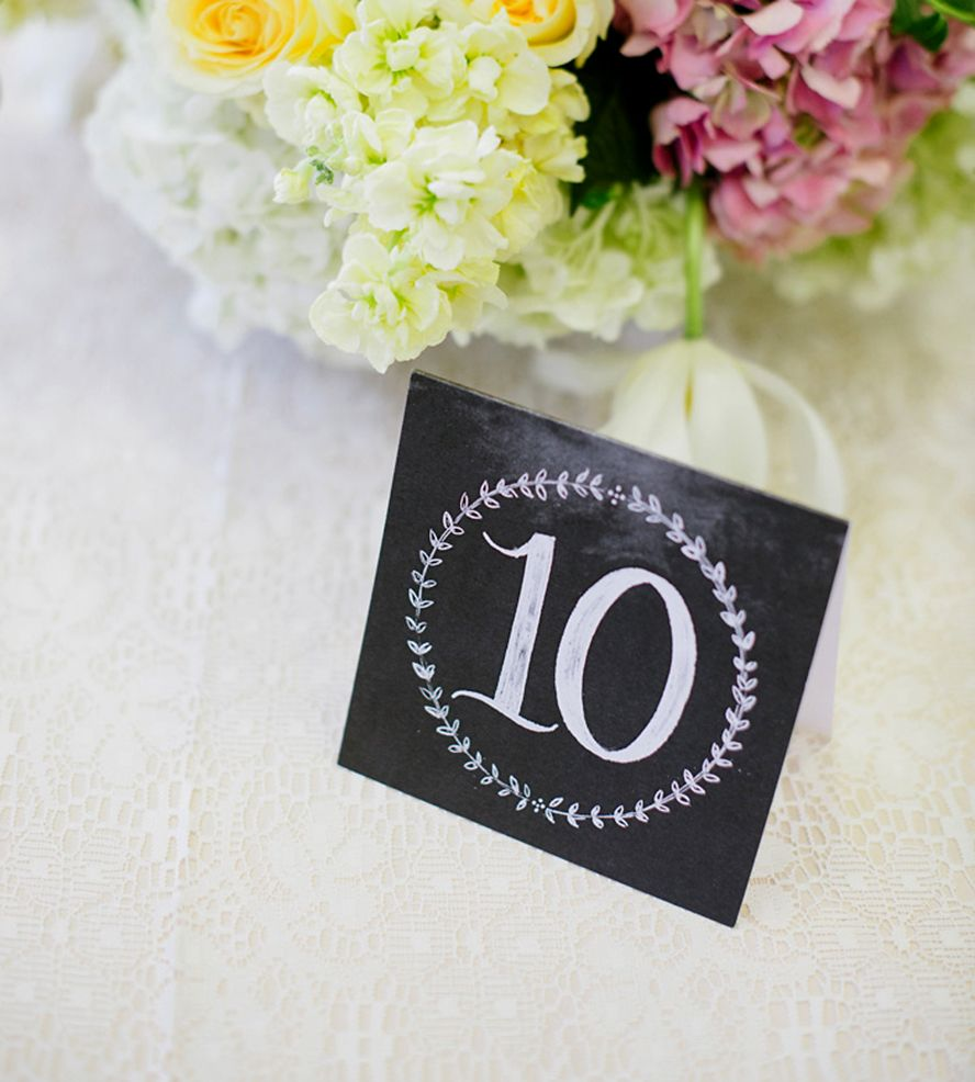 Chalkboard Wedding Table Numbers By Lily Val On Scoutmob