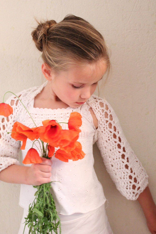 little girls lace crochet shrug 1 10 years crochet and yarns