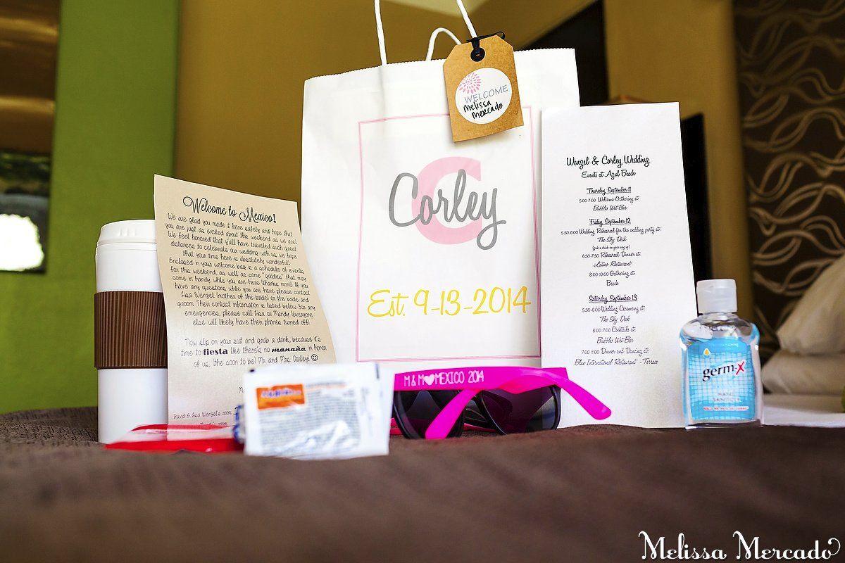 Destination wedding welcome bag, cute idea for guests! Wedding ...