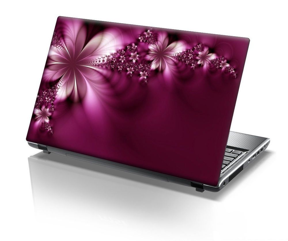 15 6 inch 15 inch laptop skin decoration laptop flowers pink violet beautiful hardcore gamer. Black Bedroom Furniture Sets. Home Design Ideas