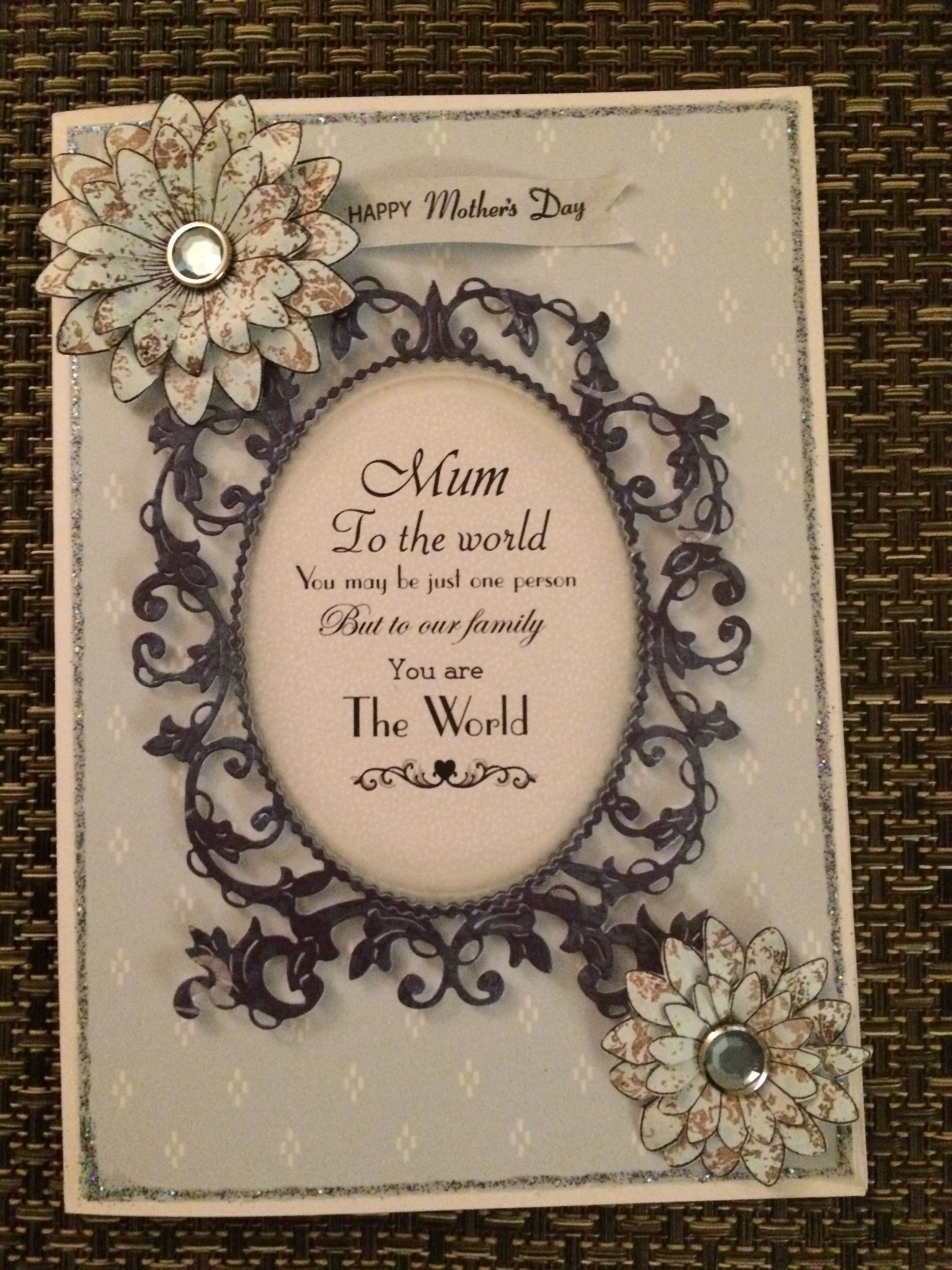 Card Making Ideas Using Tattered Lace Dies Part - 33: Motheru0027s Day Card Using Tattered Lace Die
