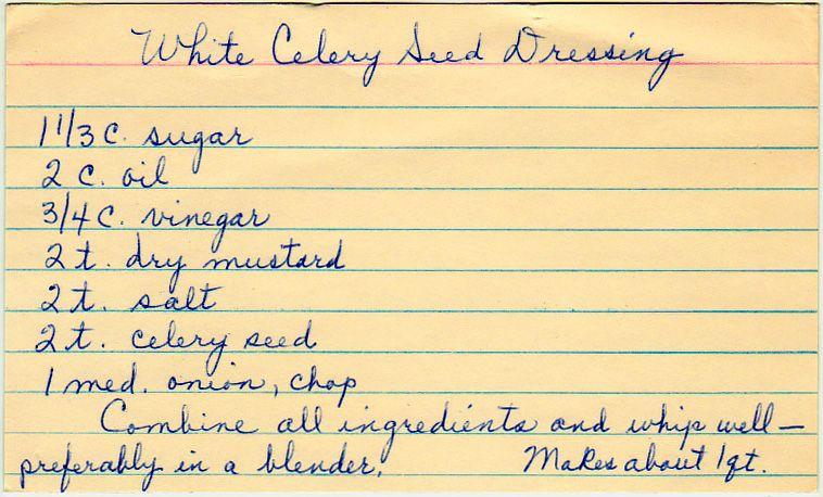 White Celery Seed Dressing