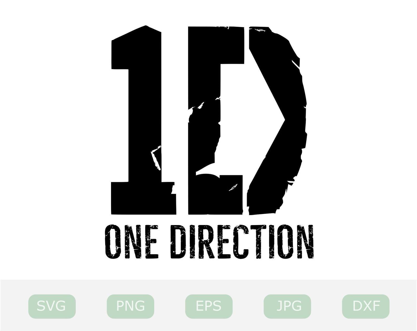 One Direction Svg 1d Logo Digital Download One Direction Etsy 1d Logo Svg One Direction