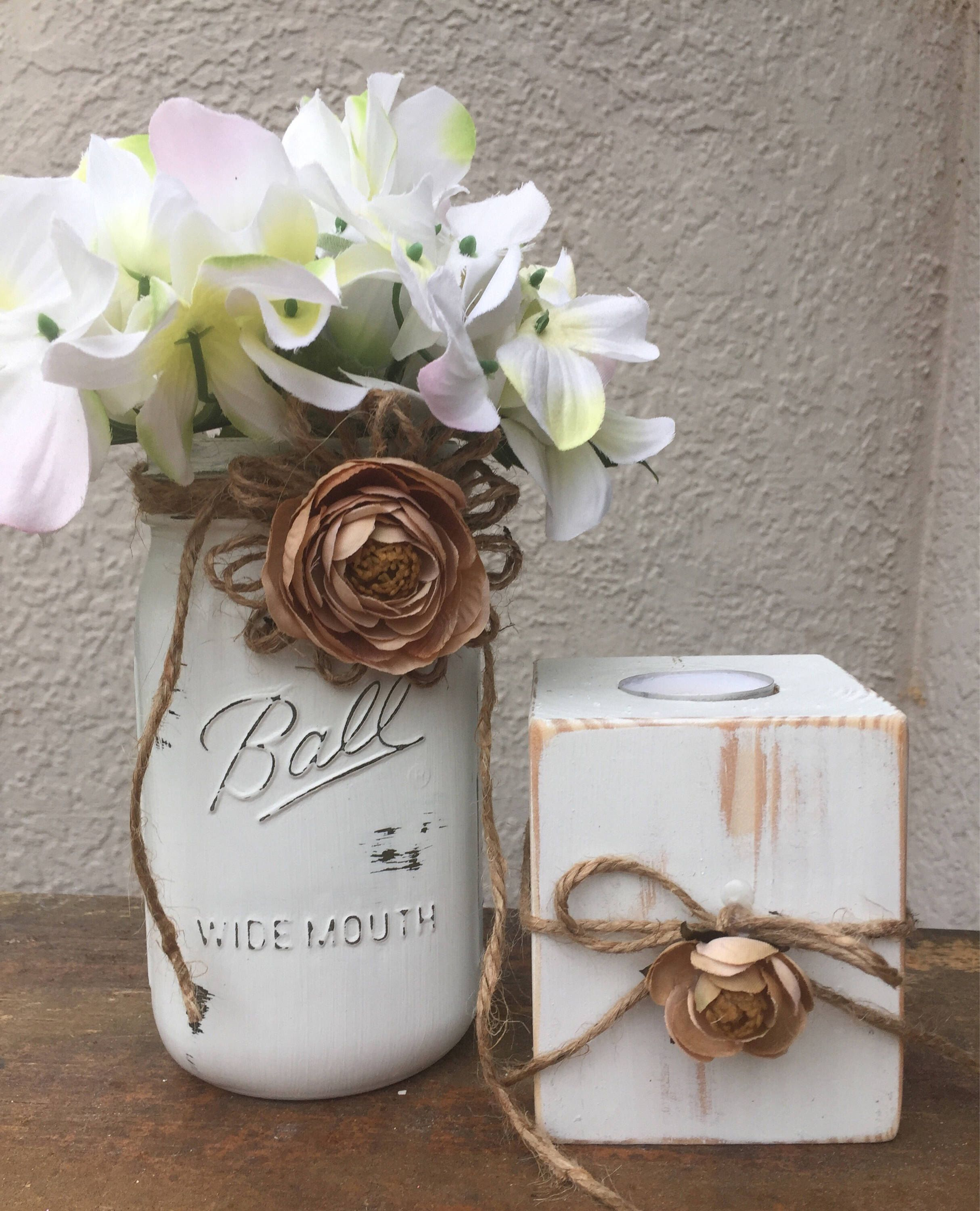 Wedding Decorations Using Mason Jars: Rustic Centerpieces For Bridal Shower Decorations Rustic