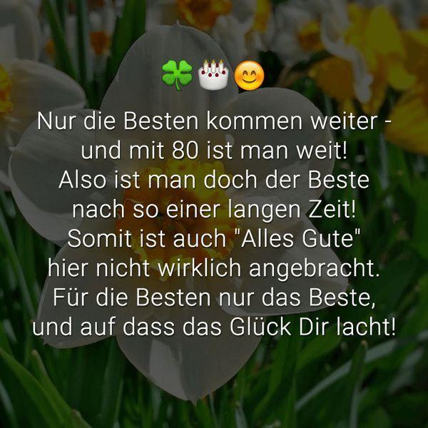 Geburtstagswunsche Zum 80 Fur Eine Frau New Spruche Und