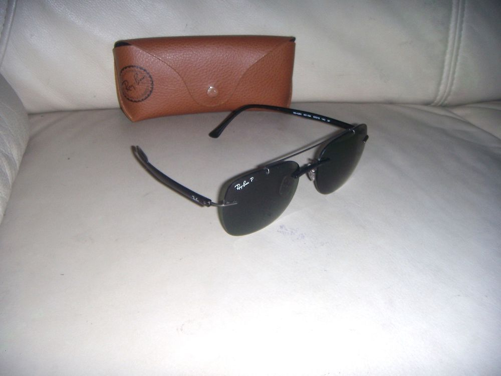 72bd13e608 Ray Ban RB4280 LIGHT RAY Polarized Black 55   18 Sunglasses - ITALY  fashion   clothing  shoes  accessories  unisexclothingshoesaccs  unisexaccessories ( ebay ...
