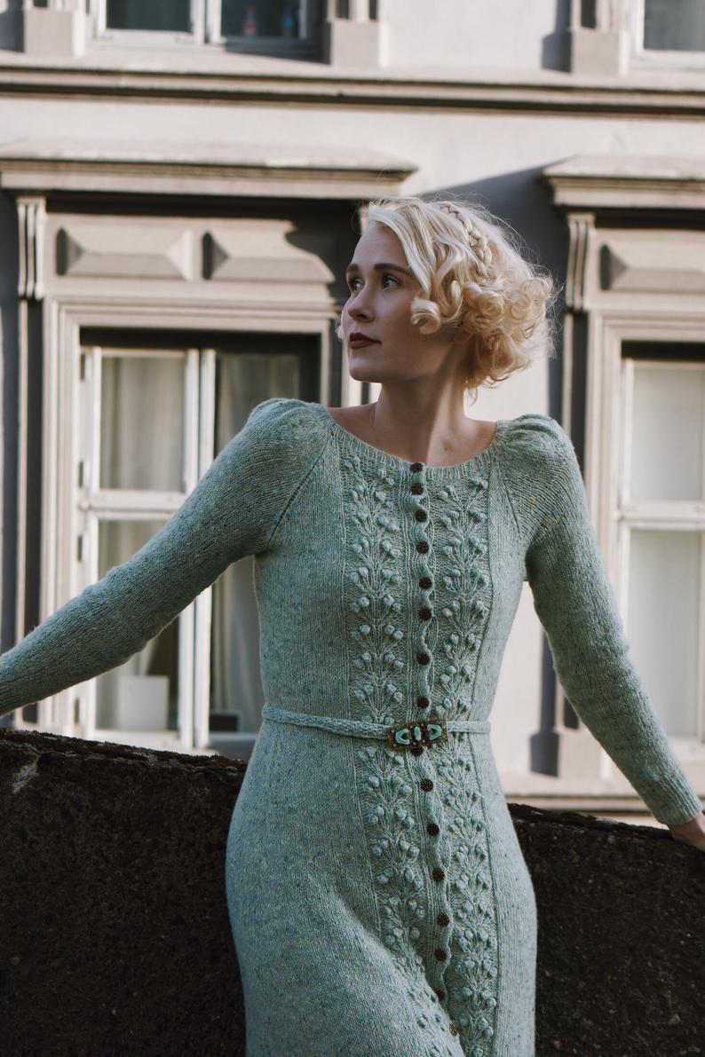 Forest Berry Dress Knitting Pattern Etsy Knit Dress Pattern Knit Sweater Dress Pattern Pattern Dress Women [ 1191 x 794 Pixel ]