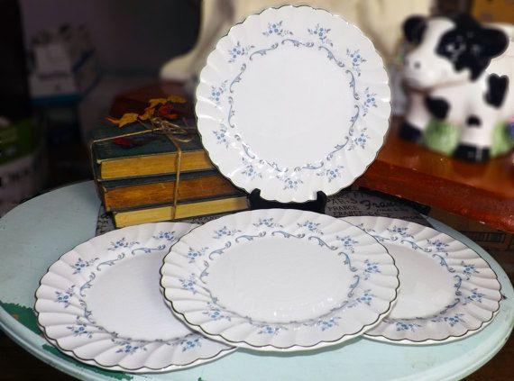 Mid-century c.1950s RARE Myott Trousseau dinner plate. & Mid-century (c.1950s) RARE! Myott Trousseau dinner plate. Blue-grey ...