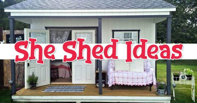 Photo of She Shed Ideas – Gorgeous Shed Office, Craft Room & Woman Cave Ideas For Your Backyard,  #Bac…