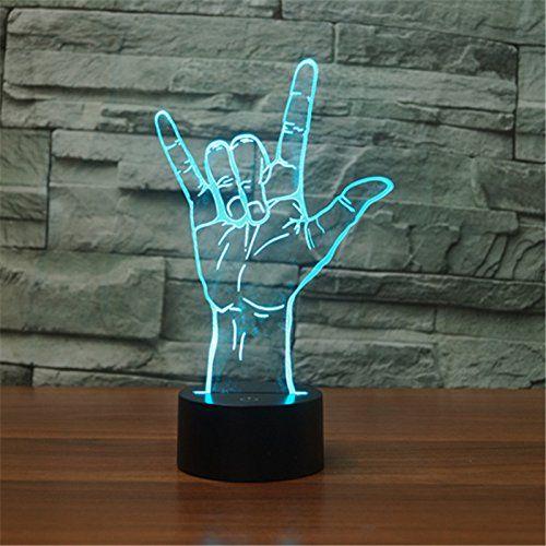 Ich Liebe Dich Lampe Diese 3d Optische Illusions Lampe Ist Ein Echtes Deko Highlight Design Ich Liebe Dich In Gebarde In 2020 Mit Bildern Nachtlicht Nachtleuchte Led