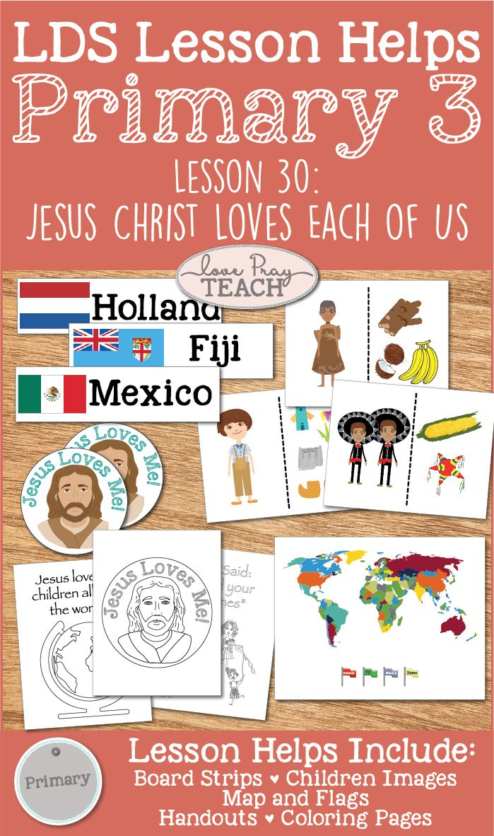 Primary 3 CTR Lesson 30 | Pinterest | Primary lessons, Lds primary ...