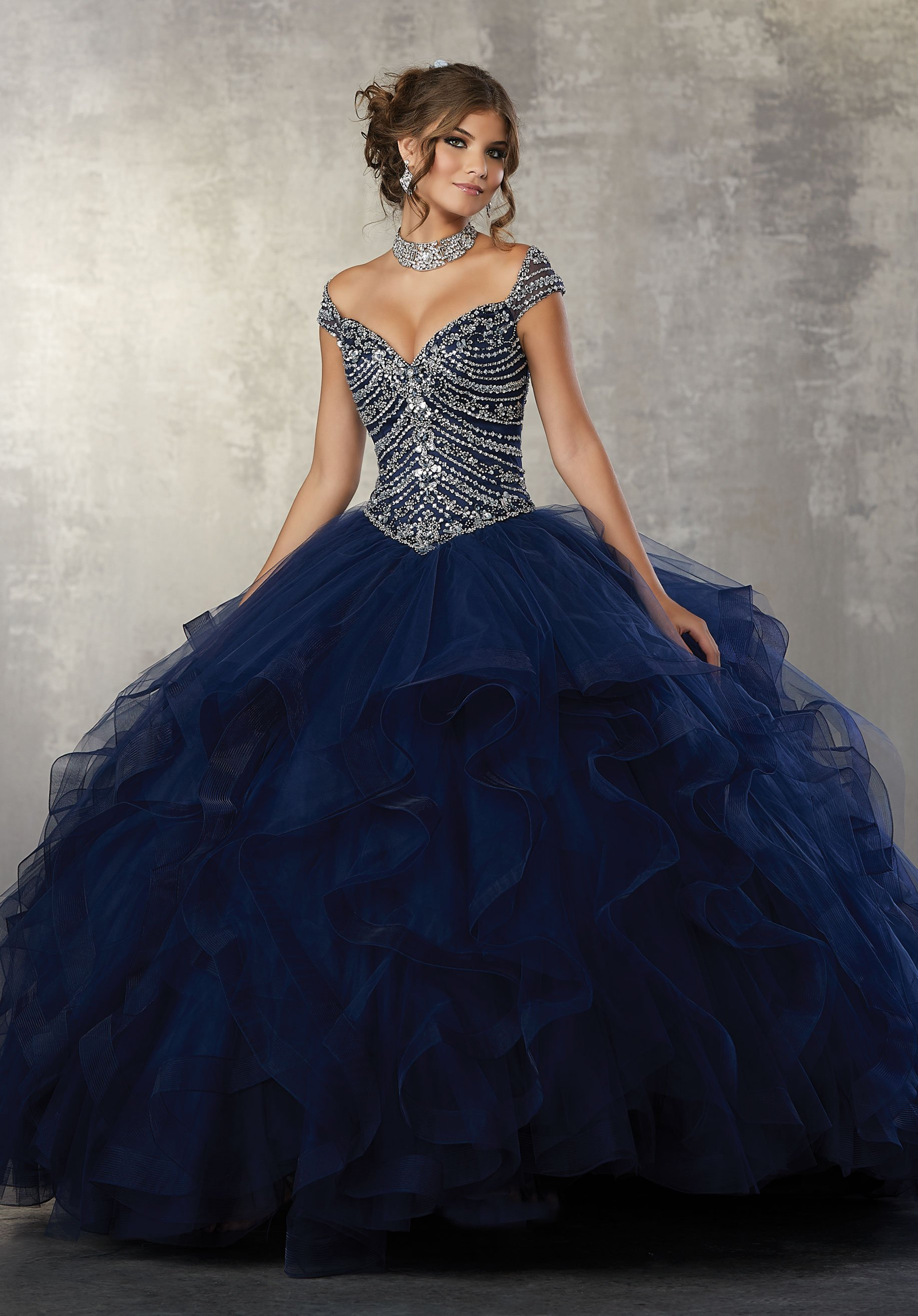 54f0922d01e Off the Shoulder Quinceanera Dress by Mori Lee Vizcaya 89162 ...