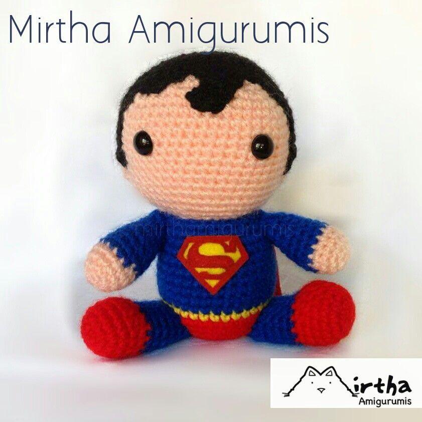 Superman Amigurumi by Mirtha Amigurumis #crochet #Amigurumi #dccomic ...