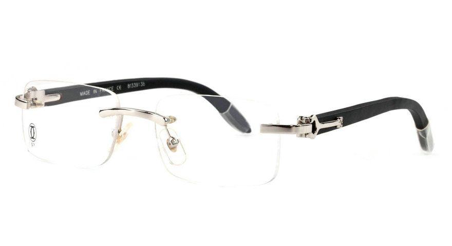 b05d3ea341 Wholesale Cartier Rimless Wood Frame Glasses for Sale-184