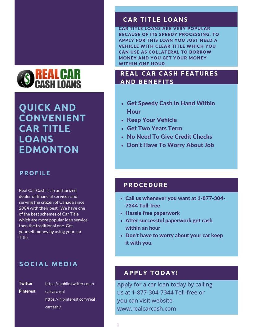Car Title Loans In Edmonton Car Title Loans Edmonton Loan