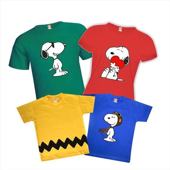 2 Camiseta Adulto +2 Body ou Camiseta Infantil. 100% Algodão com Estampa em 5799e10854e