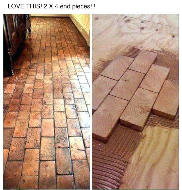 Plywood Flooring Ideas Shed Flooring Ideas Shed Floor Plywood Thickness Faux Brick Floor With Wood Blocks Wooden Blocks F Diy Wood Floors Diy Flooring Flooring