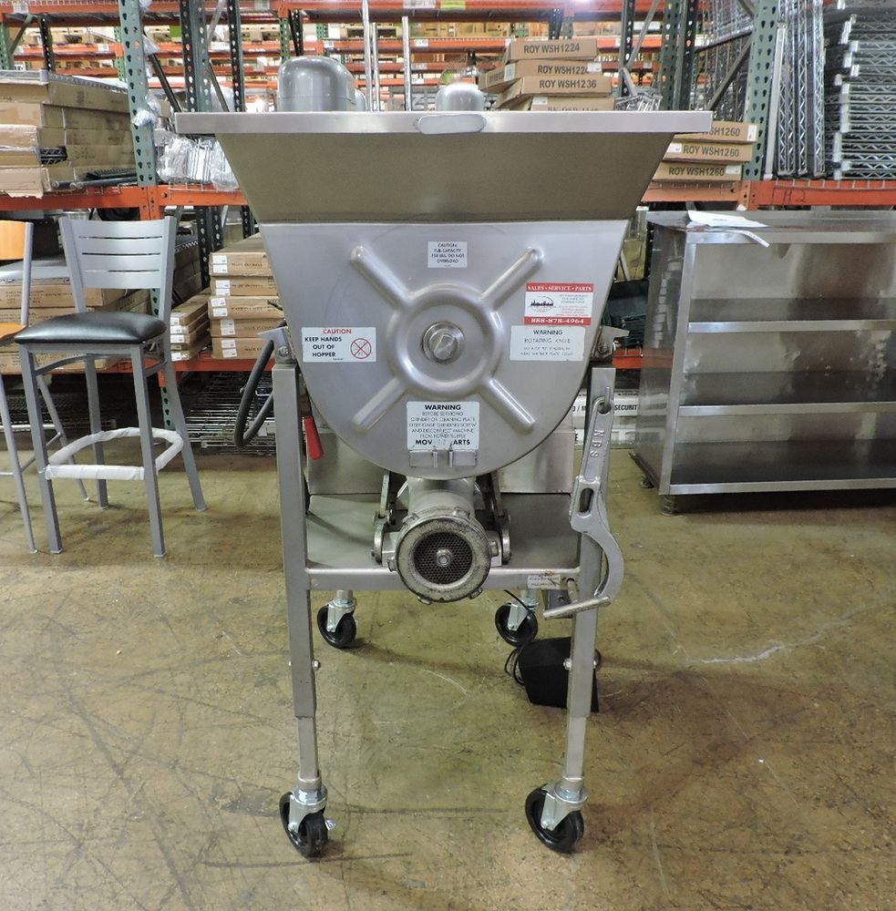 Hollymatic 175 Commercial Meat Mixer Grinder Restaurant Equipment Three Phase Wiring Diagram Hobart Fryer