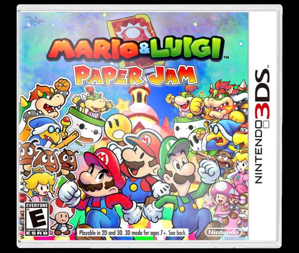 Mario And Luigi Paper Jam Custom Boxart By Wariofreak X Mario