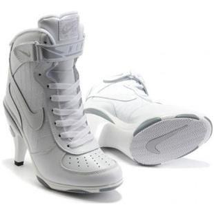 Nike Air Force 1 High Heels All White