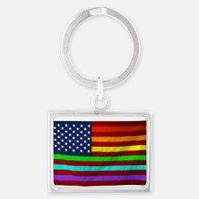 (LGBT) Gay Rainbow Pride Flag - Keychains for