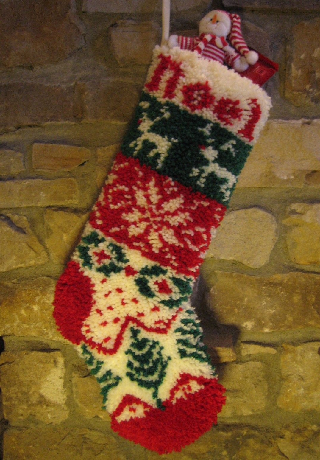 Rudolf christmas stocking latch hook kit utterly hooked