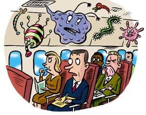 Image result for germs on an airplane