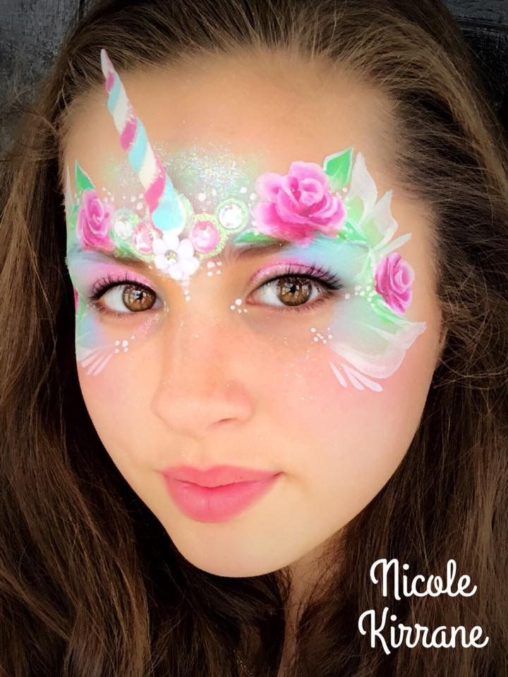 unicorn bling face paint face paint pinterest peinture visage maquillage enfant et. Black Bedroom Furniture Sets. Home Design Ideas