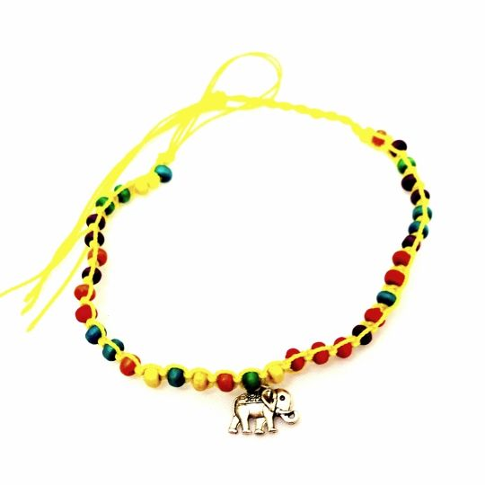 Yellow Beaded Elephant Anklet-£2 #prettytwisted #jewellery #anklet #yellow #elephant #beaded http://prettytwistedonline.co.uk/product/yellow-beaded-elephant-anklet/